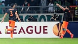 David Villa celebrates his second goal in Bremen