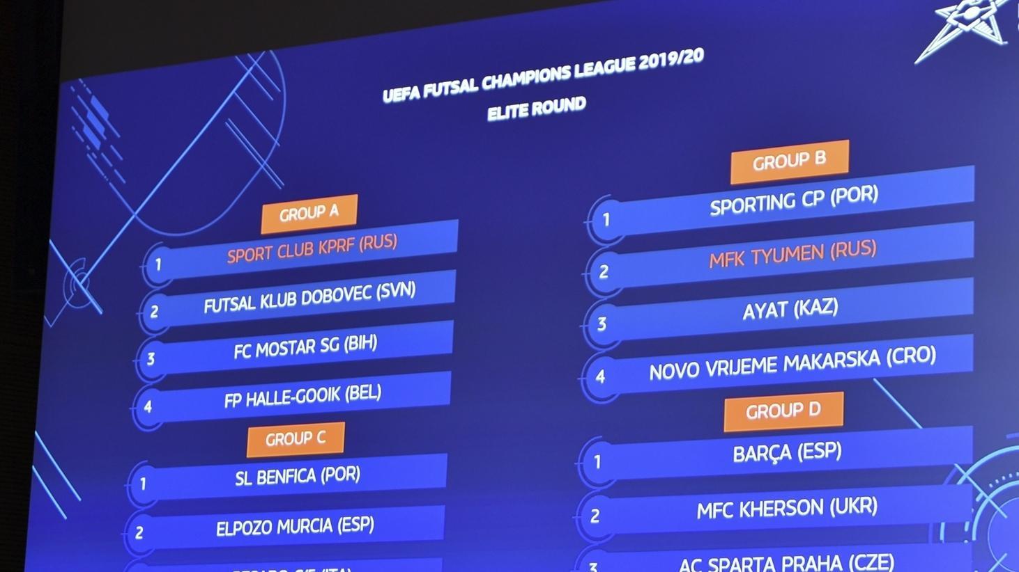 Draws | Futsal Champions League | UEFA.com