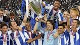 Porto celebrate their shock triumph