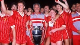 Liverpool celebrate victory in the 1983/84 European Cup