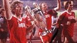 Hamburg celebrate winning the 1982/83 European Cup