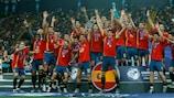 La Spagna festeggia dopo il trionfo nel 2019