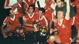 Nottingham Forest celebrate winning the 1979/80 European Cup