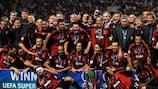 L'AC Milan, in posa dopo la vittoria del 2007, è il club più vincente nella storia della Supercoppa UEFA