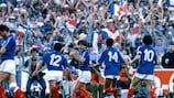 Жан-Франсуа Домерг после гола португальцам в полуфинале