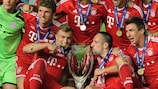 Bayern win the UEFA Super Cup for the first time in 2013