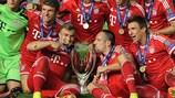 O Bayern venceu a Supertaça Europeia pela primeira vez em  2013