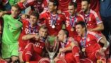 El Bayern celebra el título logrado en 2013