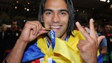 Radamel Falcao's hat-trick helped Atlético win their second UEFA Super Cup in three years