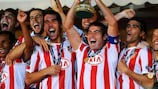 Atlético Madrid celebrate UEFA Super Cup triumph in 2010