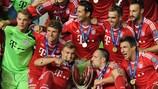 Bayern gewann 2013 erstmals den UEFA-Superpokal