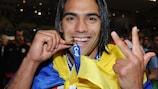 Radamel Falcao hat einen Dreierpack erzielt und hatte damit großen Anteil an Atléticos zweitem Superpokal-Sieg in drei Jahren
