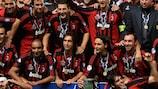 AC Milan feiert den Superpokal 2007