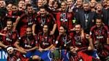 """""""Милан"""" празднует победу в Суперкубке УЕФА-2007"""