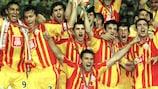El Galatasaray celebra el título