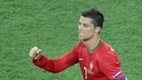 Cristiano Ronaldo è stato uno dei tre giocatori che hanno segnato tre gol a UEFA EURO 2012
