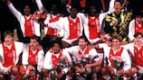 Ajax celebrate winning the 1995 UEFA Super Cup