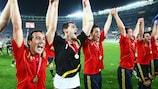 España celebra el triunfo en 2008