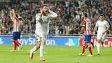 Sergio Ramos celebrates his sensational equaliser