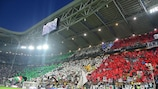 The Juventus Stadium in Turin was opened in 2011 and staged the 2014 UEFA Europa League final.