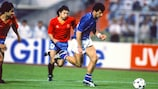 Gianluca Vialli in action against Spain
