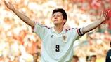 Croatia striker Davor Šuker was at his peak during EURO '96