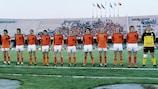 Alineación de Holanda en el partido de la EURO 1980