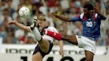 Stuart Pearce went closest to scoring for England
