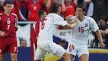 Milan Baroš feiert seinen Treffer gegen Lettland