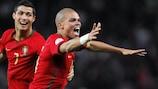 Pepe celebrates making the breakthrough
