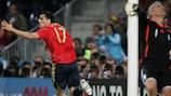 Daniel Güiza anotó el tanto decisivo para España