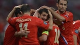 Alan Dzagoev got the ball rolling for Russia