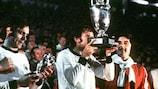 Panenka lifts the trophy at EURO '76