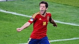 Жорди Альба празднует свой гол в финале ЕВРО-2012