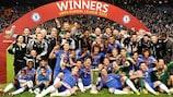 2012/13: O Chelsea festeja a vitória na UEFA Europa League