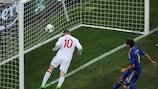 Wayne Rooney marcou pouco tempo após o intervalo