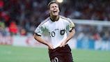 Oliver Bierhoff festeggia il Golden Goal contro la Repubblica Ceca in finale di EURO '96