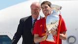 Vicente del Bosque et Iker Casillas en 2012