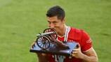 Robert Lewandowski, do Bayern, terminou 2019/20 como melhor marcador da Bundesliga, feito que conseguiu pela quinta vez em sete épocas
