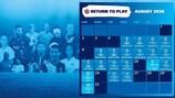 Actualizado el calendario de competiciones UEFA