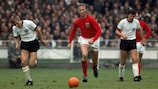 Jack Charlton in action in the 1966 World Cup final against West Germany