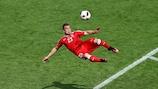 Xherdan Shaqiri s'envole pour marquer le 650e but à l'EURO
