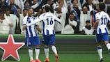 Ricardo Quaresma festeja um dos seus dois golos pelo Porto