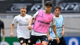 Kai Havertz in training ahead of Leverkusen's quarter-final against Inter Milan