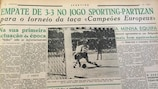 The Sporting newspaper reports the first European Cup match