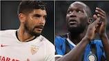 Decisivos:  Éver Banega, do Sevilha, e Romelu Lukaku, do Inter