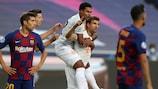 Thomas Müller celebra un gol durante la victoria del Bayern por 8-2 contra el Barcelona