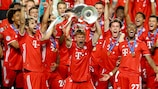 Bayern celebrate completing the club's second treble