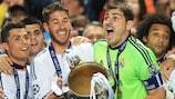 Sergio Ramos e Iker Casillas levantan la UEFA Champions League en 2014