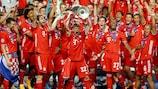 Die Bayern holten nach 2013 zum zweiten Mal das Triple